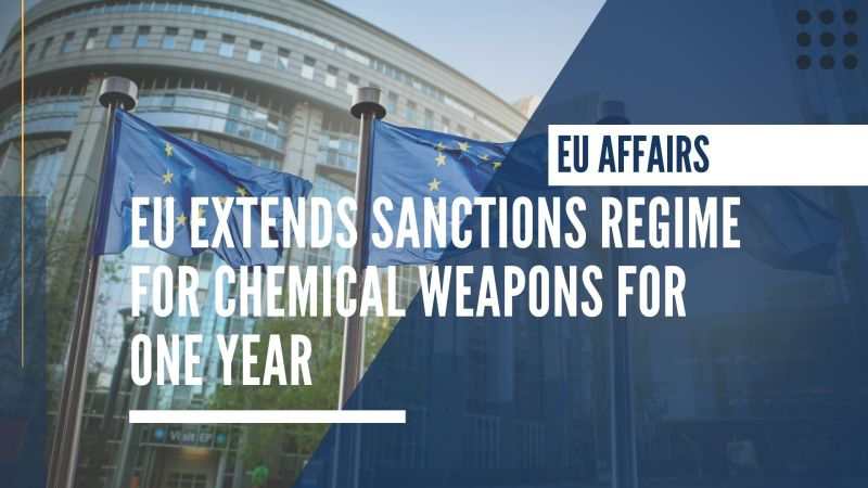 EU extends sanctions regime for chemical weapons for one year