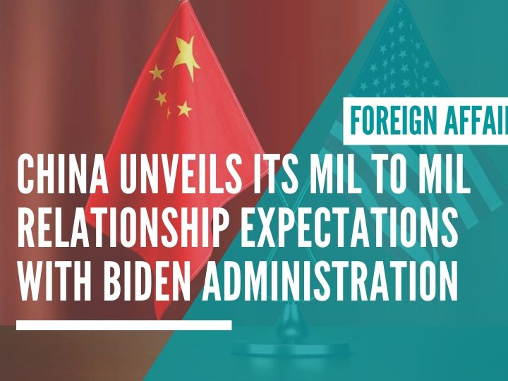 China MND unveils its Mil to Mil relationship expectations with Biden administration