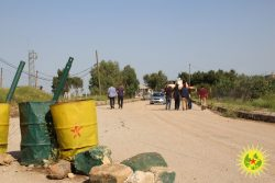 Trip to the Turkish border and the martyrs' cemetery of Derik