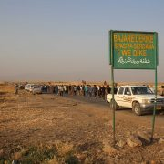 Outside Derik, going to the Newroz refugee camp