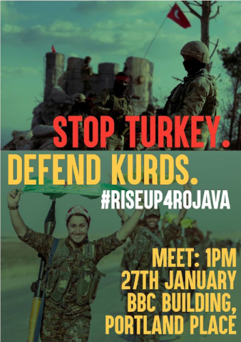 #RiseUp4Rojava call from London: Kurdistan Solidarity and Plan C London