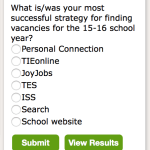 New Survey: What is/was your most successful strategy for finding vacancies for the 15-16 school year?