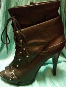 peep toe boots by BCBG $189