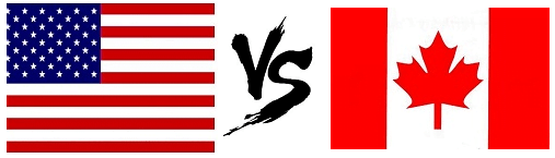 Image result for differences between canada and america