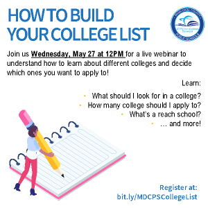 Webinar: HOW TO BUILD YOUR COLLEGE LIST