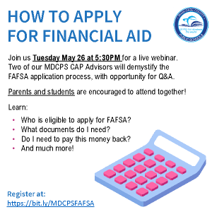 FAFSA Webinar: HOW TO APPLY FOR FINANCIAL AID @ ZOOM