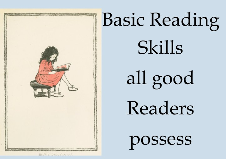 Strong Readers all have a set of Basic skills.