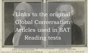 List of the links to the complete passages used in Official College Board SAT tests