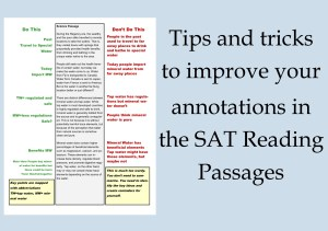 Learn how to effectively annotate the SAT Reading Passages.