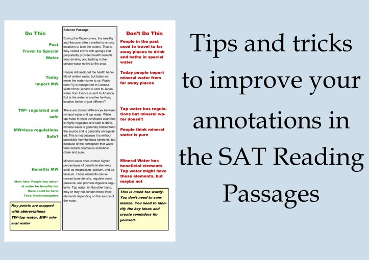 Learn the tips and tricks to taking notes on SAT Reading Passages.