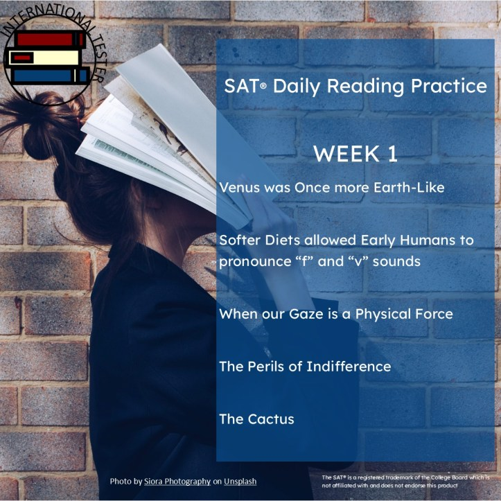 SAT Reading List practice passages week 1 cover