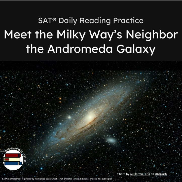 SAT reading practice on the Andromeda Galaxy