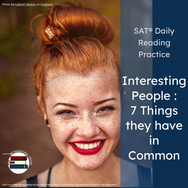 7 things interesting people have in common a social science article