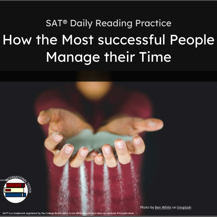 SAT Reading Practice  on How successful people manage their time