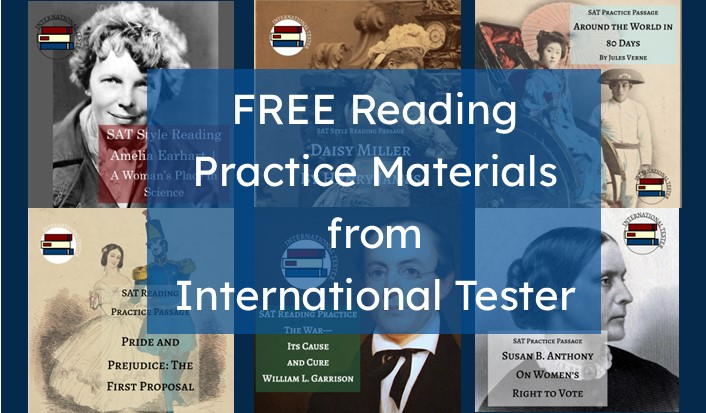 A selection of Free SAT reading practice materials created by International tester