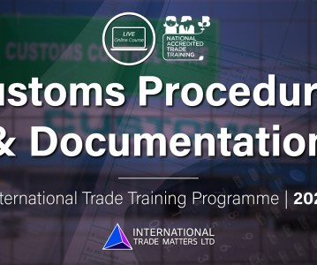 Customs Procedures and Documentation – An Online Course