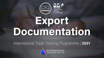 Export Documentation - An Online Course