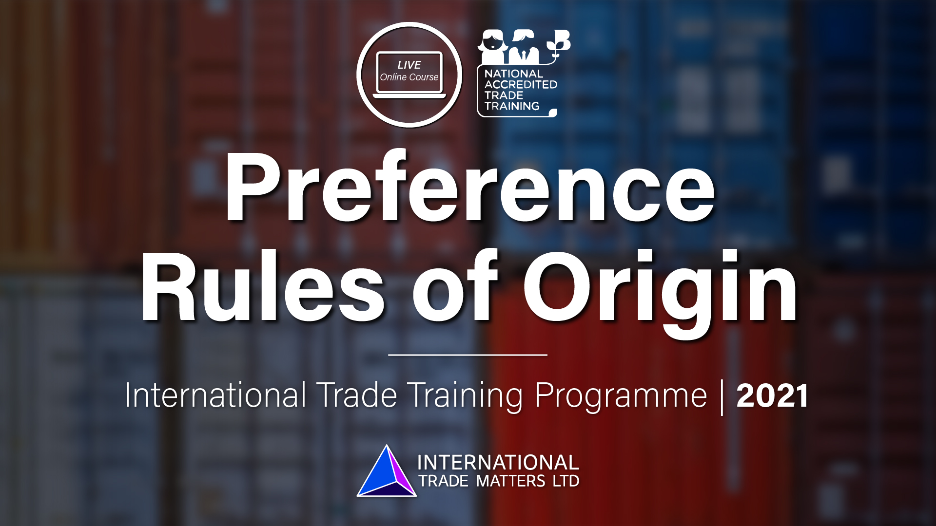 Preference Rules of Origin - An Online Course