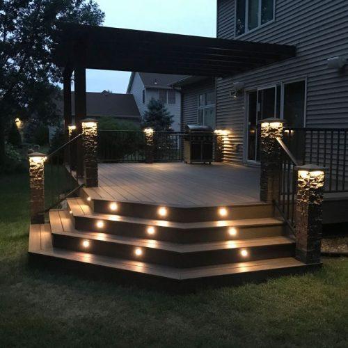 Stair deck lights