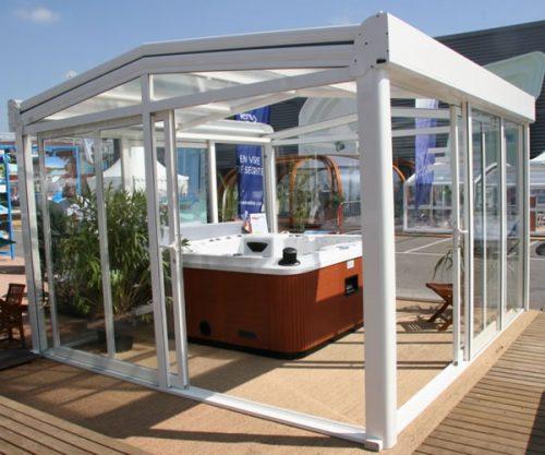Hot Tub Enclosures with sliding door