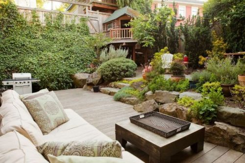 natural garden for fall landscape