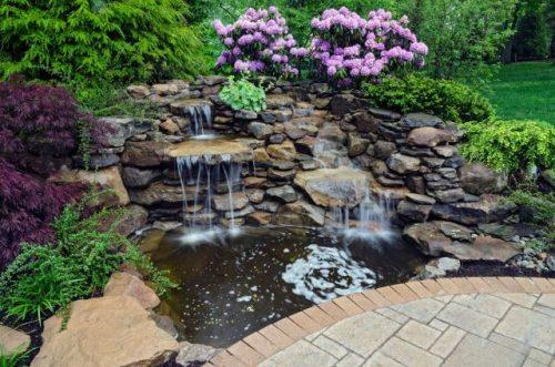 rock garden for fall landscape