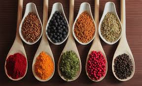 various spices for healthy burger