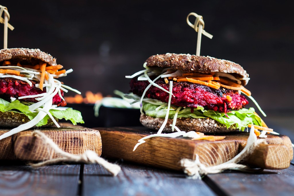 Healthy Zing Burger competition - Healthy Prawn & salmon burger with spicy mayo.
