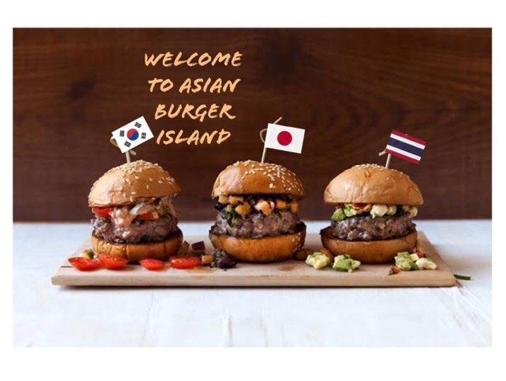 Asian burger slider