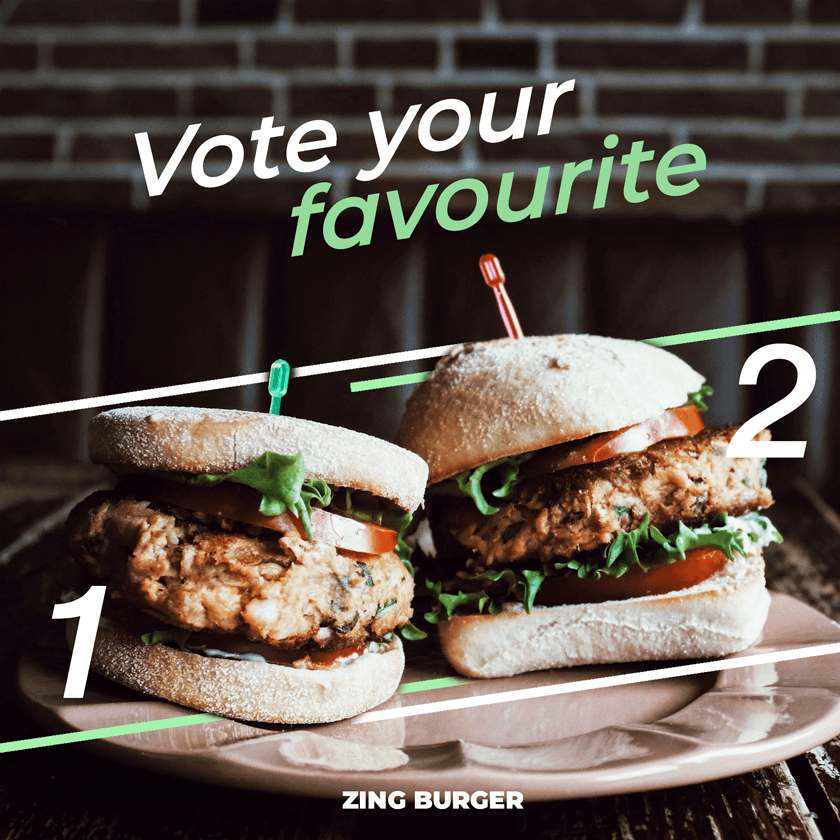 Vote your favourite healthy burger