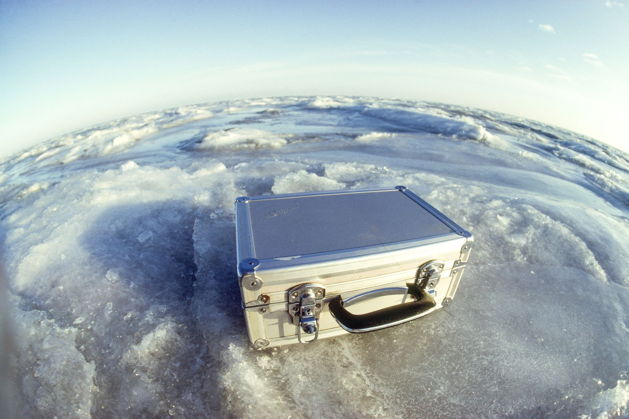 Aluminium Fotokoffer von Fotograf Svend Krumnacker 1985