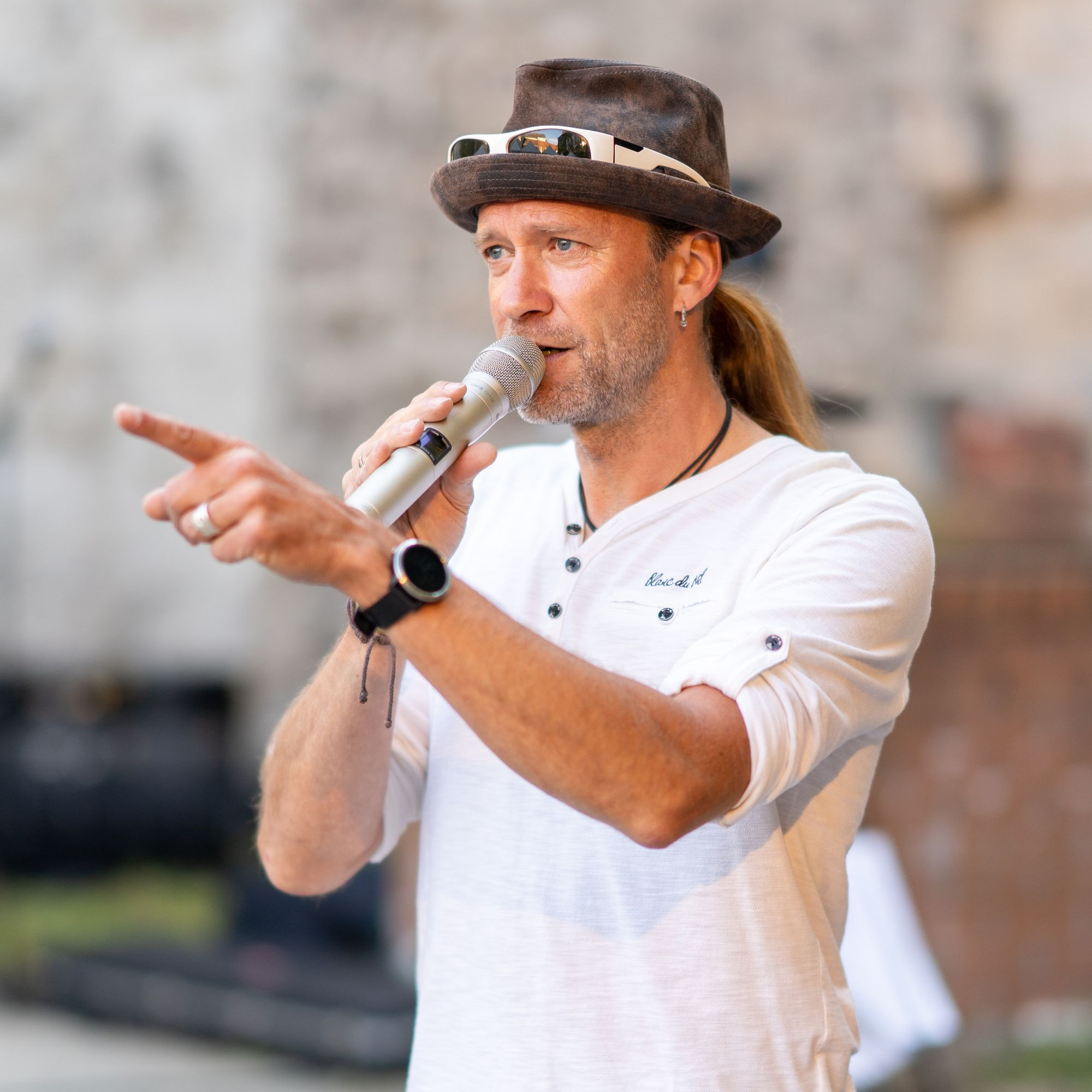 """Moderator Claudio Großner - """"Der Berg ruht"""" Erlangen 2021"""