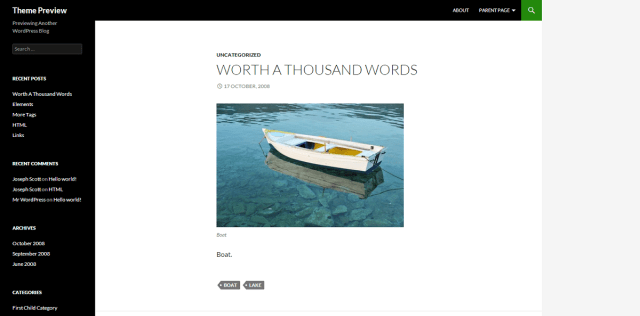WordPress › Twenty Fourteen « Free WordPress Themes