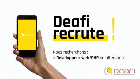 Deafi #recrute !  On recherche : - Développeur(euse) web/PHP en alternance - N...