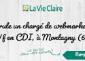 La Vie Claire recrute un(e) chargé(e) de webmarketing H/F à Montagny (69), en #C...
