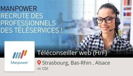 #ManpowerFrance recherche un(e) Télé#conseiller #web (H/F) #StrasbourgBasRhinAls...