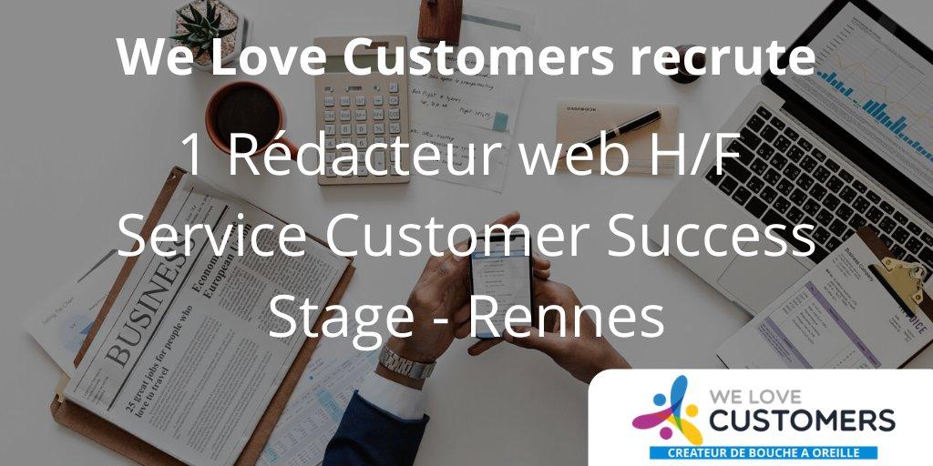 [#Stage] @wlc_fr recherche un rédacteur web pour notre service Customer Success ...