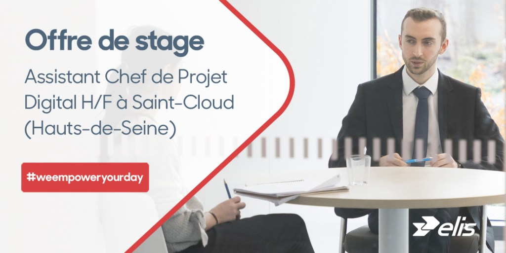 Vous recherchez un #stage ? Devenez Assistant Chef de Projet #Digital (H/F) pou...