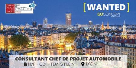 #WANTED -> Nous recherchons un Ingénieur Consultant Chef de Projet Automobile...