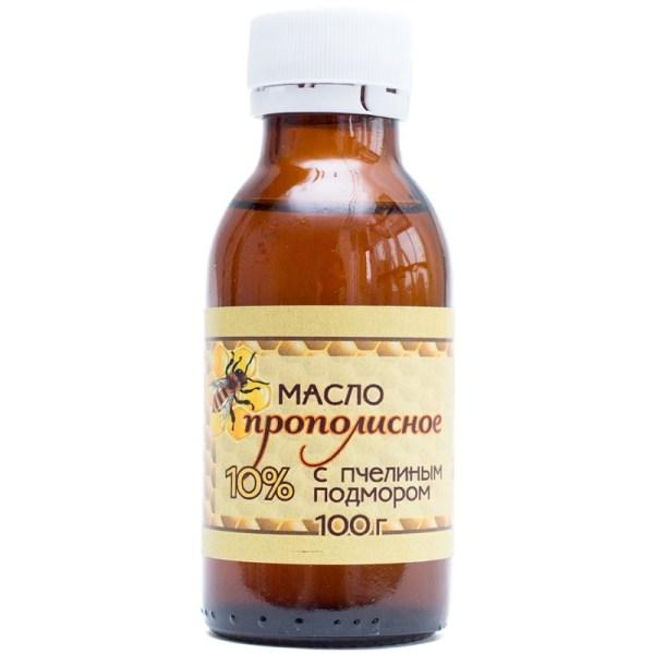 Прополисное масло с пчелиным подмором