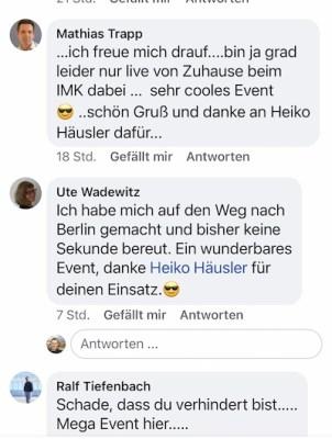 Feedback von Ralf Schmitz auf dem Internet Marketing Kongress 2020 von Heiko Häusler
