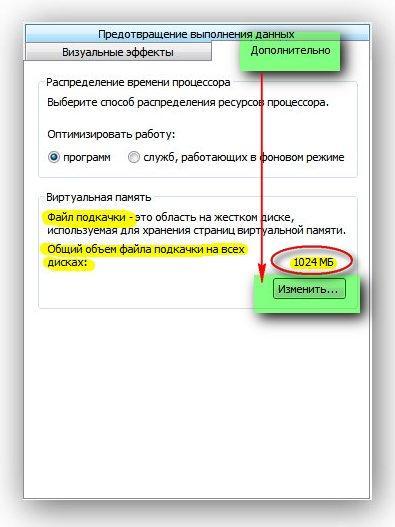 Файл подкачки. Изменить размер   Интернет-профи