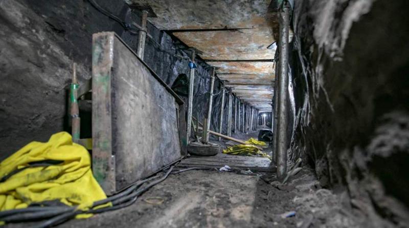 robo de banco por túneles