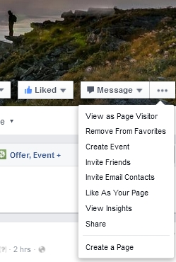 Facebook Use As Page feature