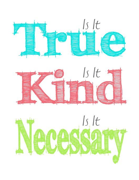 Is it true is it kind is it necessary