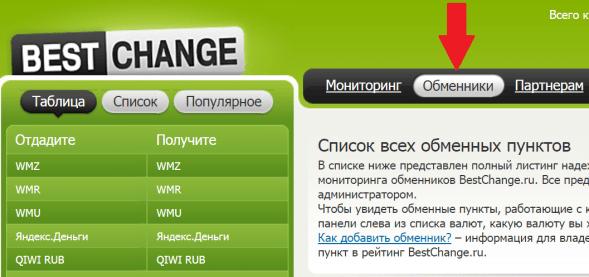 обменники Бестчендж