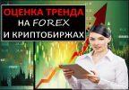 Оценка тренда на форекс и криптобиржах