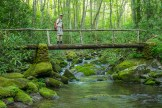 Crossing 2nd foot log