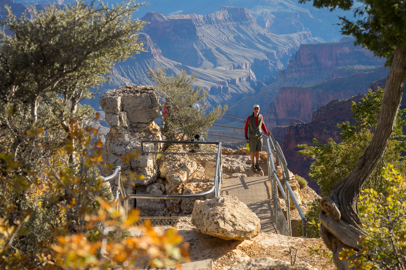 Meanderthals bright angel point trail grand canyon for Trail lodge
