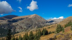 Clouds hover above 14ers